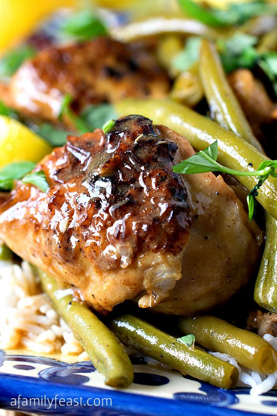 Braised Chicken Limoncello with Green Beans: Great For Company or ...