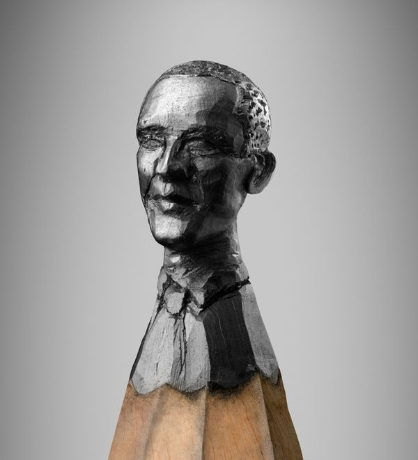 Carved from pencil lead insane crayon art