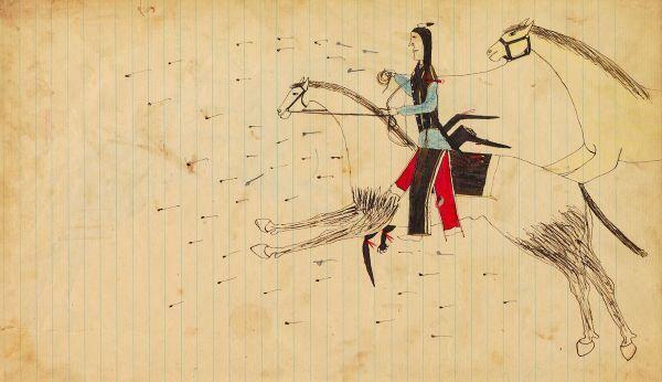 Plains Indian Ledger Art: Pamplin Cheyenne/Arapaho Ledger - PLATE ...