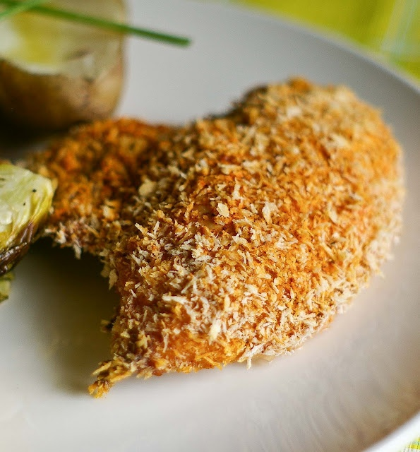 "Buttermilk Oven ""Fried"" Chicken - all the moist and crunch of fried..."