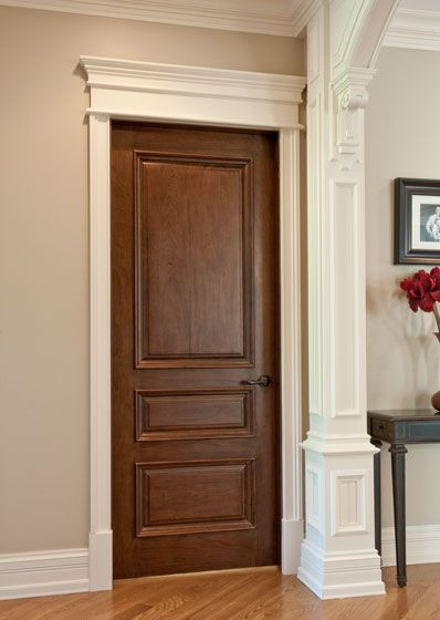 Like the trim around the door for the home pinterest for Wood trim around doors