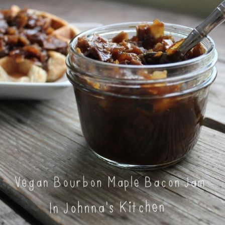 Vegan Bourbon Maple Bacon Jam | In Johnna's Kitchen oh yes they did! I ...