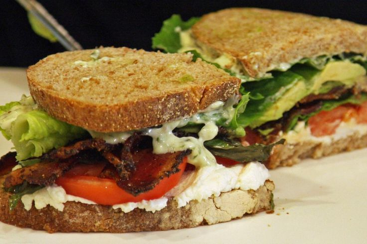 The World's Greatest BLT with goat cheese, avocado, basil wasabi mayo ...