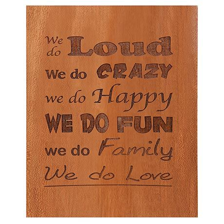 'We Do Family' Plaque