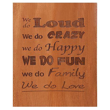'We Do Family' Plaque
