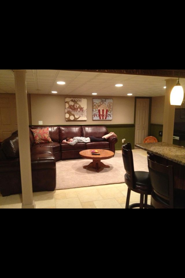 Photos Basement Media Room/at Home With Steve And Rachelle » Home ...