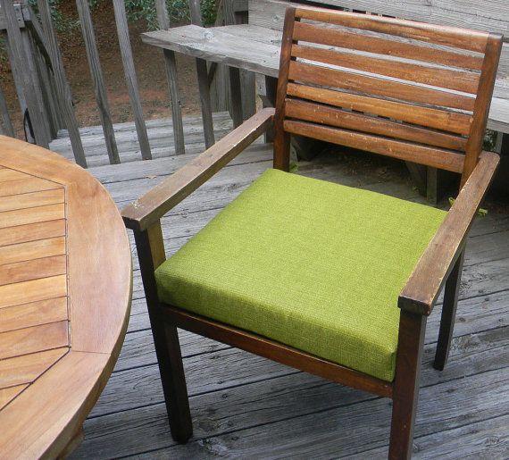 Indoor Outdoor 12 X 12 Foam Universal Chair Seat Cushion With Tie