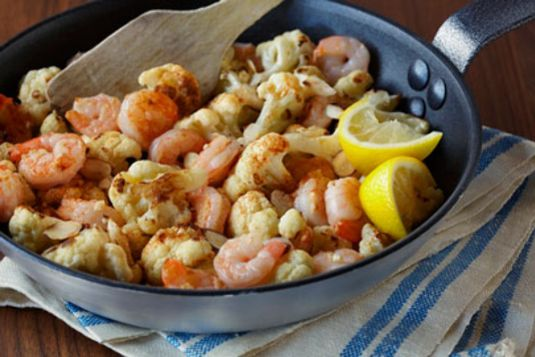 Pan Roasted Cauliflower and Shrimp http://wm13.walmart.com/Food ...