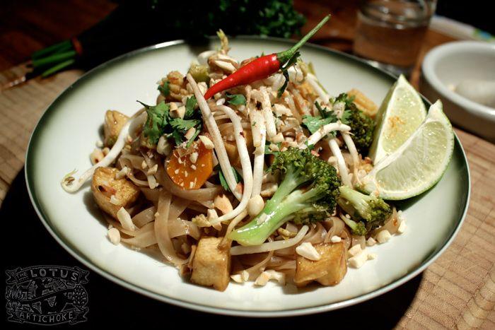 Vegetable Pad Thai with tofu - The Lotus and the Artichoke - Vegan ...