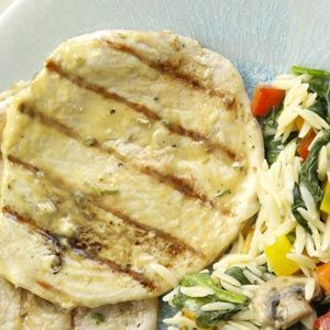 turkey cutlets with a mustard + apple + rosemary sauce (serve with the ...