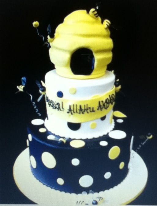 bumble bee themed baby shower cake all things baby pinterest