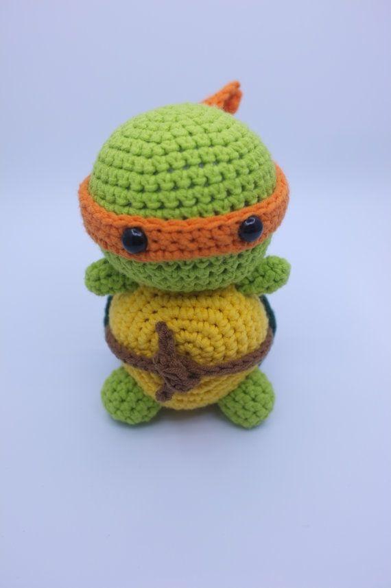 TMNT, Michaelangelo Ninja Turtle Amigurumi Crochet