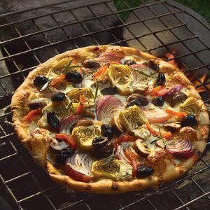 Grilled Vegetable Pizza | dinner | Pinterest