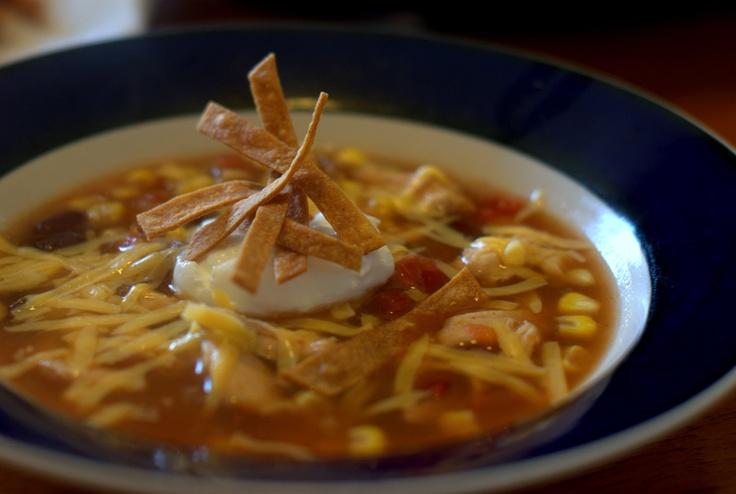 Slow Cooker Tortilla Soup | Cooking | Pinterest