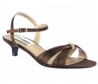 Fiesta Women's Dress Shoes and Wedding Shoes in Chocolate - Wide Width