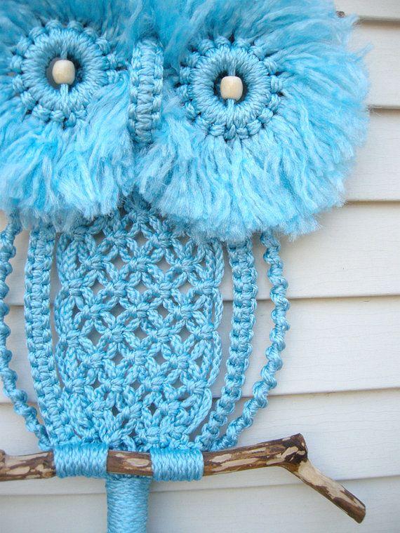 macrame owl (Someone is making these again!)