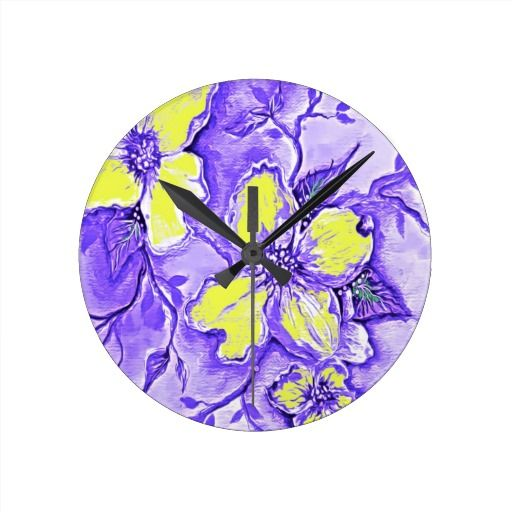 Purple And Yellow Flower Design