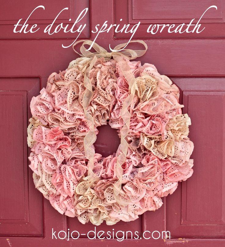 Doily Spring Wreath
