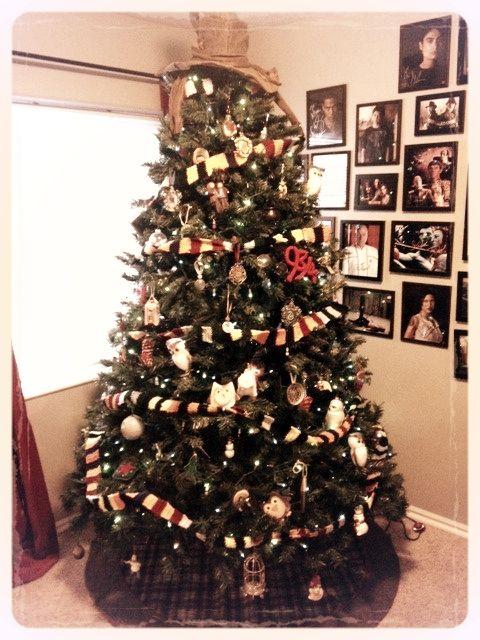 Harry potter christmas tree christmas pinterest - Make christmas tree last longer ...