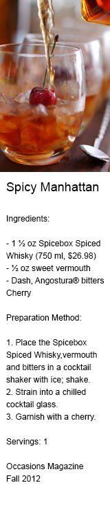 Labrador Liquor Stores #NLLS, a Spicy Manhattan drink combines spiced ...