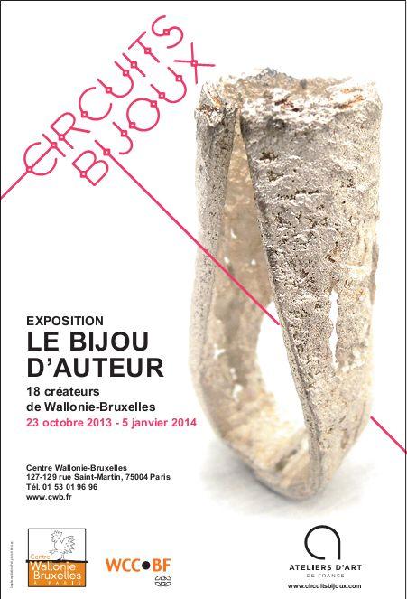 """""""le bijou d'auteur"""" - Centre wallonie Bruxelles (bague Mei Lee ??)"""