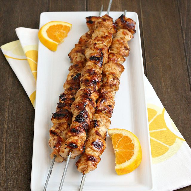 Orange Teriyaki Chicken Kebabs by Tracey's Culinary Adventures #Chicken #Kebabs #Orange #traceysculinaryadventures