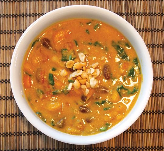 Curried Pumpkin Peanut Soup - this was a perfect winter soup. Use two ...