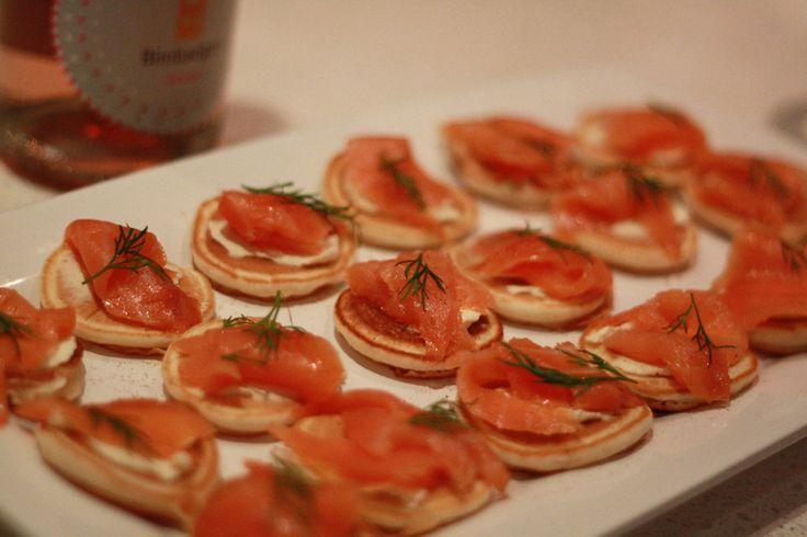 Salmon canapes! | appetizer | Pinterest