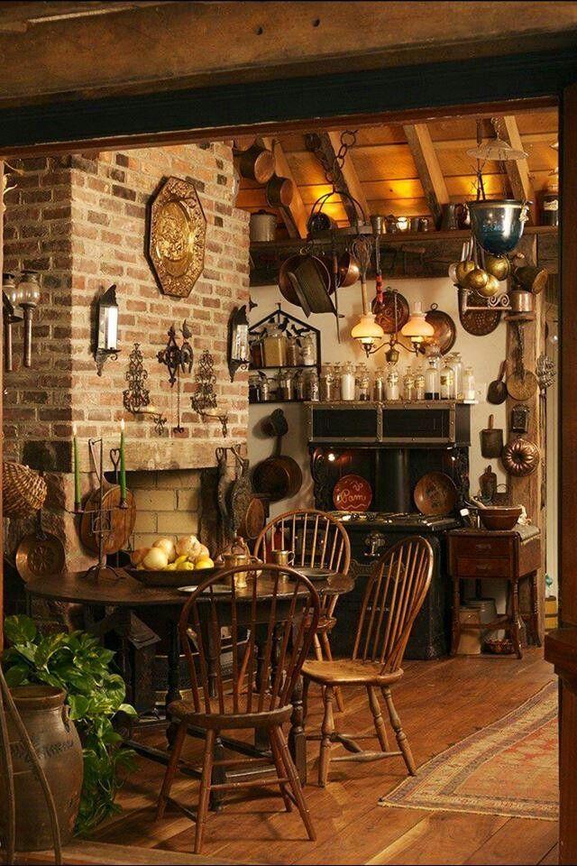 Country Kitchen A Quaint Fairy Tale Cottage Pinterest