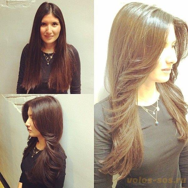Прическа каскад на длинных волосах фото