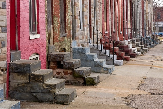 headphones by dre baltimore rowhouse steps  Baltimore