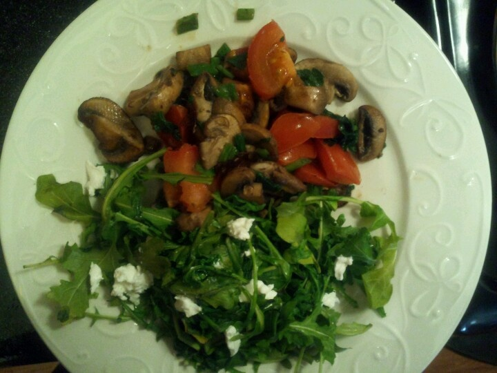 Scrummy Warm Arugula Salad Recipe — Dishmaps