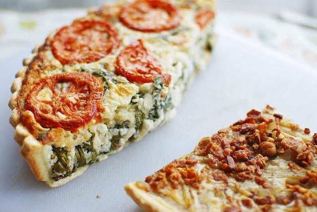 tomato ricotta tart & onion tart | Tartes | Pinterest