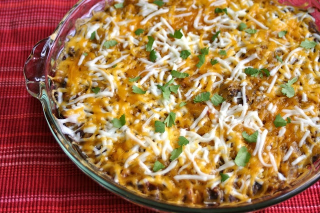 Warm Layered Mexican Dip | food!!! | Pinterest