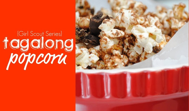 Tagalong Popcorn (Popcorn, Peanut Butter & Chocolate Chips, Melted ...