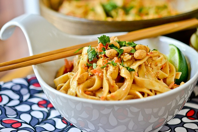 Cold Peanut-Sesame Noodles by Full Fork Ahead, via Flickr