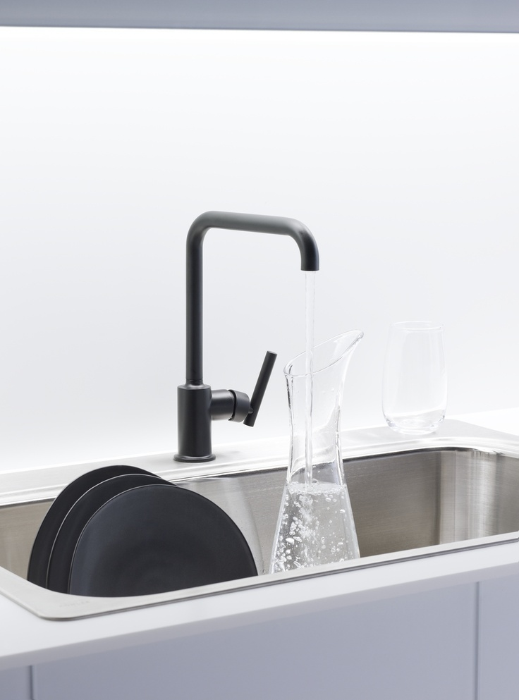 matte black faucet finish salon things pinterest danze goes masculine with satin black finish jlc online