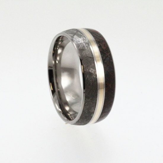 meteorite and dinosaur bone ring walletburn product