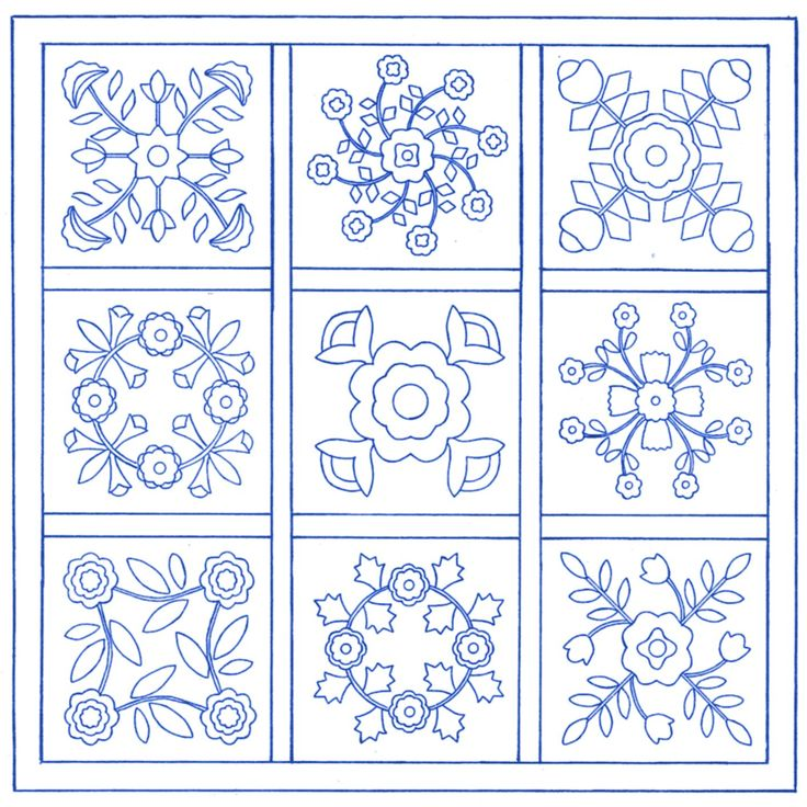 Quilt Templates Printable Free : Pin Free Applique Quilt Block Patterns Printable Blocks And Templates on Pinterest