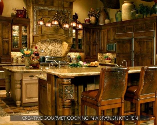 Old world kitchens pinterest for Old world style kitchen