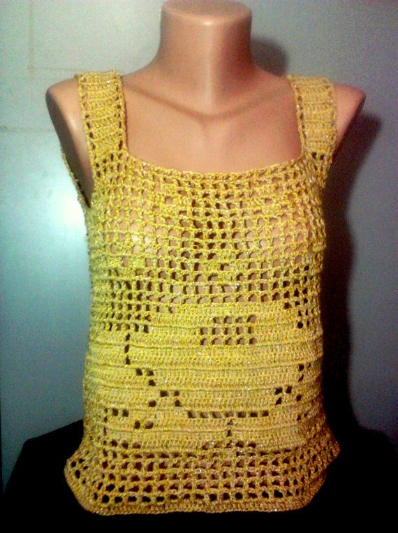 Golden Rose Crochet Top by sebsurer on Etsy, $65.00