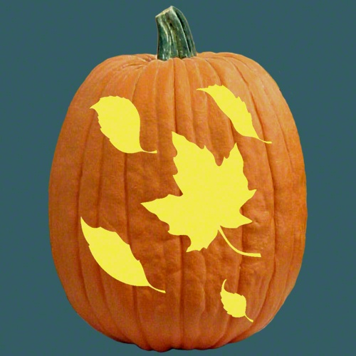 Fall leaves stencils pinterest for Fall pumpkin stencils