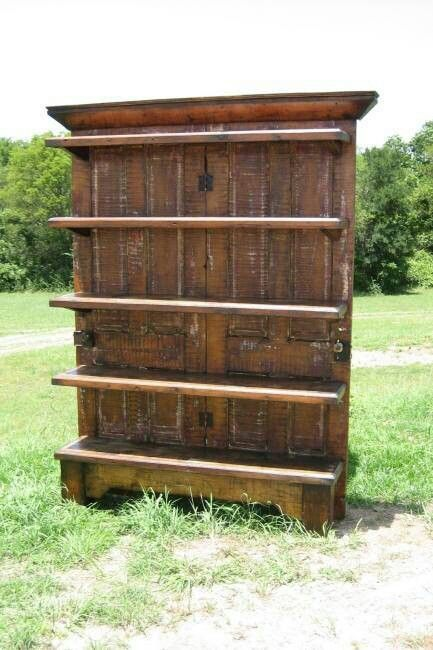 Perfect Make A Corner Bookcase With An Old Door  Interior Home Design