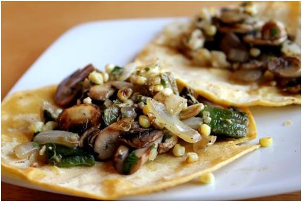 Black Bean Tacos With Roast Zucchini Salsa And Roasted Poblano Crema ...