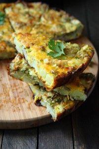 herb and leek frittata | brunch | Pinterest