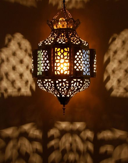 Moroccan hanging lantern with glass 110 wallpaper for Moroccan wallpaper uk