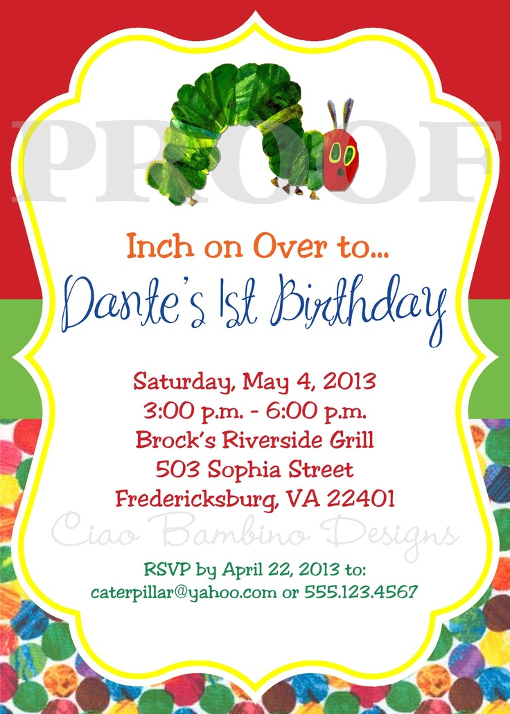 Hungry Caterpillar Invitations with amazing invitations template