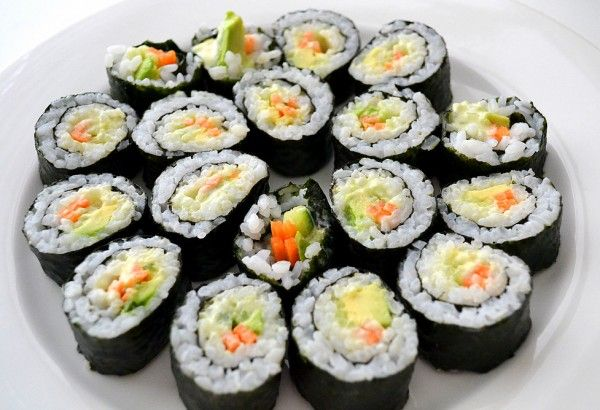 Vegetable Sushi with Wasabi Mayonnaise {sweetest kitchen} #sushi # ...