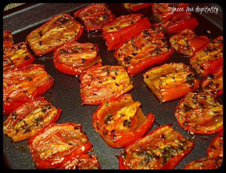 Slow-Roasted Tomatoes | Vegetable recipes | Pinterest