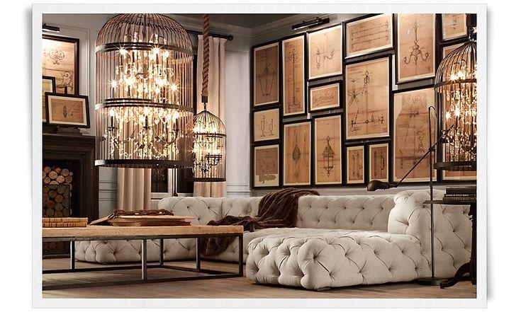 Rooms restoration hardware interior design pinterest - Restoration hardware living room ideas ...